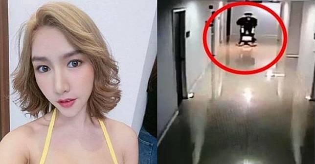 คลิปอีกมุมนาที 'น้ำอุ่น' ลาก 'ลัลลาเบล' ออกจากลิฟต์ไปกับพื้นเข้าห้อง