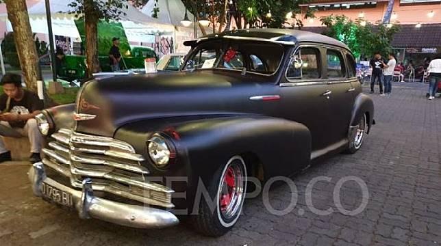 Chevrolet Fleet Master 1948 milik Heru Sasongko di ajang Hotrod Weekend Party (HWP) 2019, di Yogya 9-10 November 2019. TEMPO/Pribadi  Wicaksono