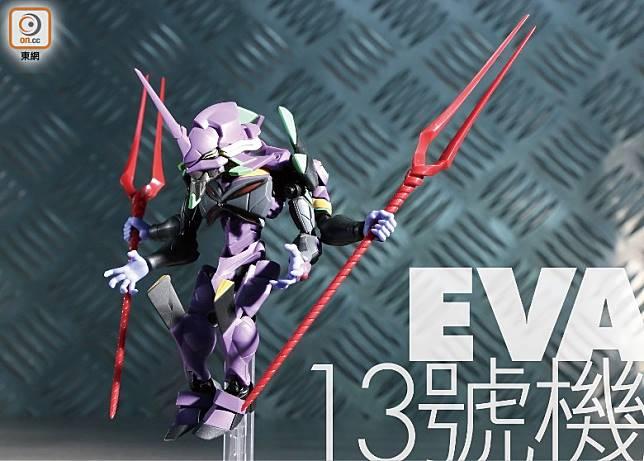 「EVA 13號機」它是《福音戰士新劇場版:Q 》中主角碇真嗣與渚薰共同駕駛的EVA。(張錦昌攝)