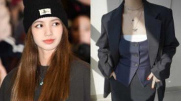 帶貨王LISA又來了!韓妞間最熱賣的蝴蝶項鍊 多種戴法超好看!