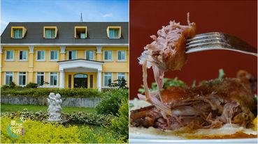 【彰化鹿港美食推薦】鹿米葉Maison de Monica,歐式建築庭園餐廳,在地食材製作排餐/異國料理。