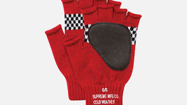 Supreme Checkered Fingerless Gloves 格紋露指手套