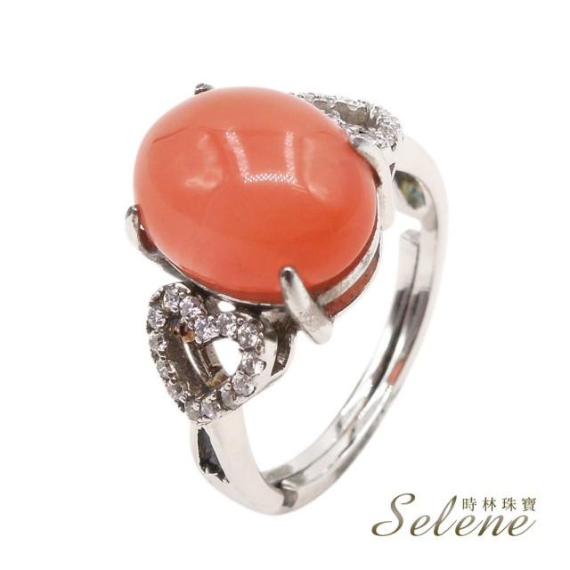 【Selene】橙心簇擁南紅瑪瑙戒(質地細緻 產量稀少)