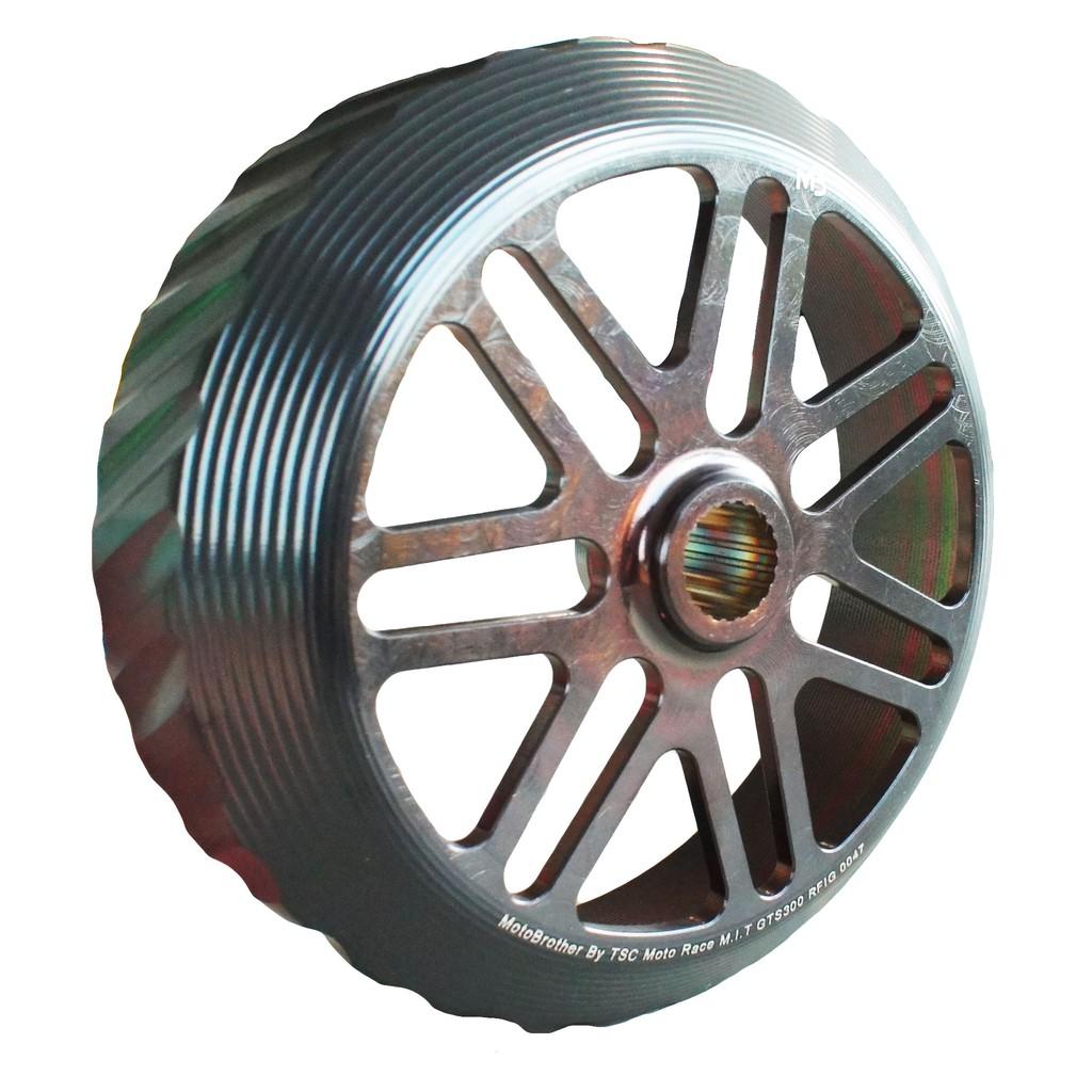 品 牌MB產品名稱黑POWER輻射固定式黑金斜溝碗公顏 色黑金對應車種YAMAHA車系:X-MAX300KYMCO車系:NIKITA300SYM車系:GTS250/300/RV250/270VESPA