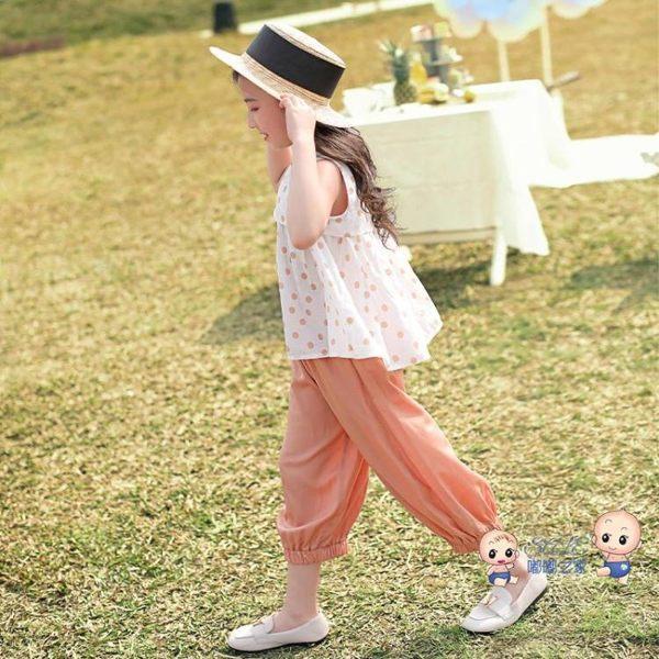 運動套裝 女童套裝2019夏裝新款超洋氣兒童裝大童夏季時髦時尚運動兩件套潮 2色