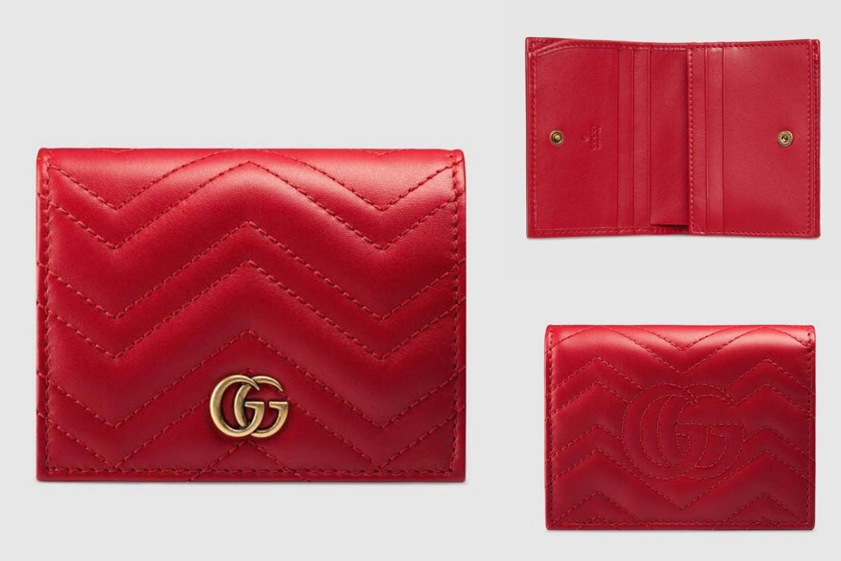 GUCCI GG Marmont 卡夾錢包,約NT.13,000