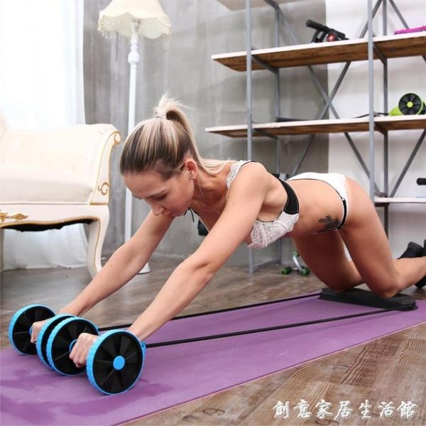 卷回彈健腹輪腹肌健身器材家用初學者減肚子運動馬甲線女男