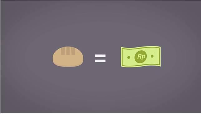 Biar harga barang seimbang, makanya jumlah barang tersedia harus sama kaya jumlah uang yang tersebar. Enaknya hidup yang seimbang..