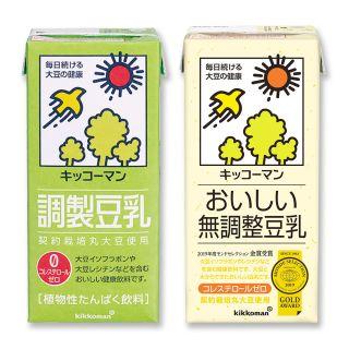 キッコーマン ●調製豆乳 ●無調整豆乳
