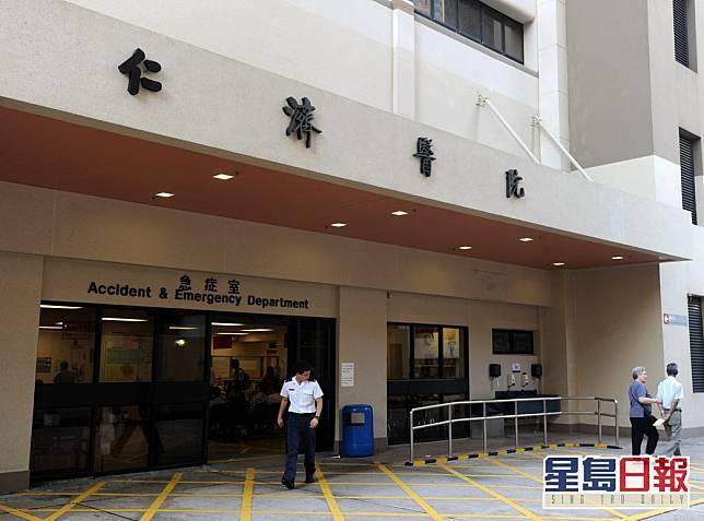 男子現於仁濟醫院治療。資料圖片