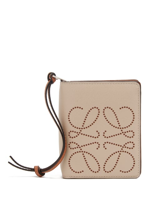 Loewe - A combination of light grey and signature tan brown gives Loewe's wallet a playful quality.