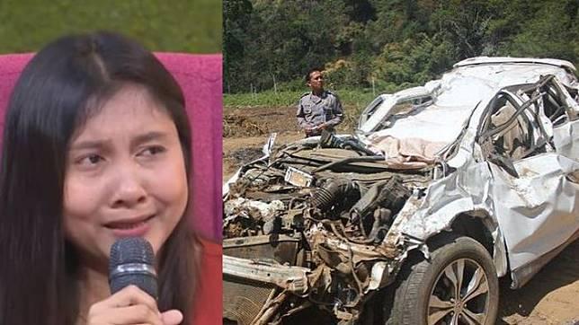 Tina, istri RS, korban kecelakaan Honda CRV di Sarangan