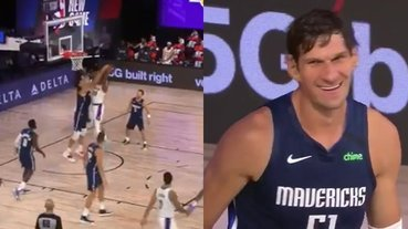 太殘酷!NBA 巨神兵在籃下「站著」連蓋 Howard 兩記麻辣鍋,爽到露出「謎之笑容」