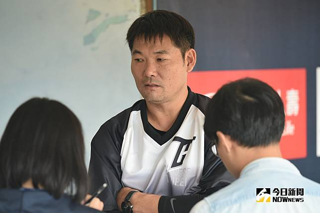 台日交流賽中職聯隊總教練黃甘霖(圖/林柏年攝)