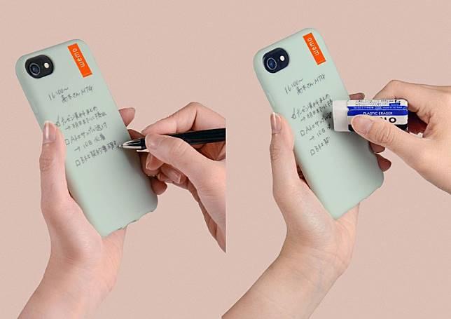 就算用油性原子筆在殼身寫Notes,只要用擦膠或手指便可輕鬆刷走,相當方便。(互聯網)
