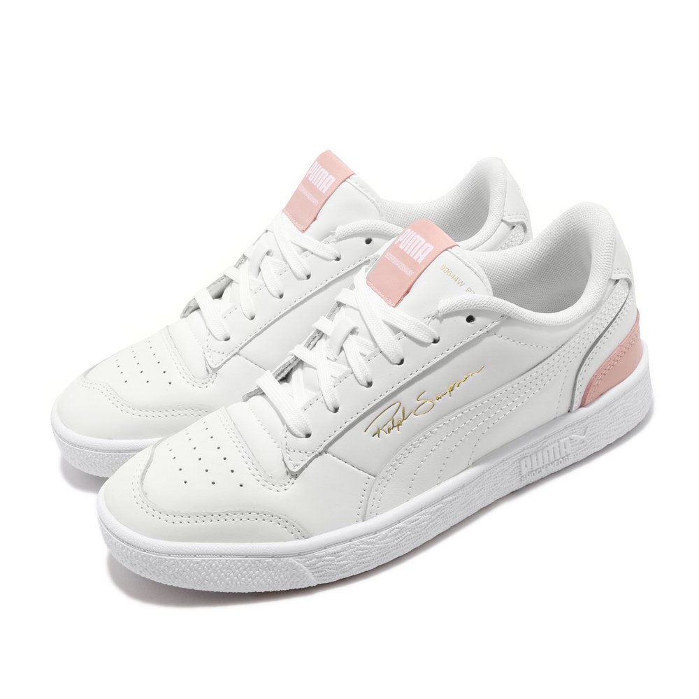 PUMA 休閒鞋 Ralph Sampson 女鞋 經典款 皮革 質感 簡約 球鞋 穿搭 白 粉 [37084606]