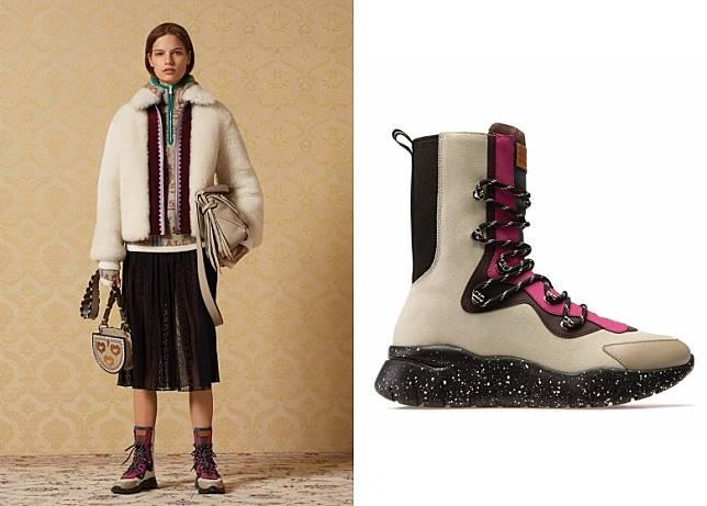 BALLY Biasa白色小牛皮高筒行山鞋(互聯網)