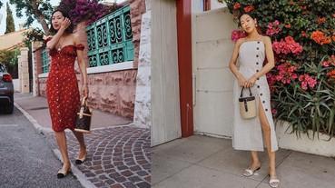 裙子少了一排釦就是不夠時髦~潮人搶穿的帶釦小裙子,妳入手了嗎?
