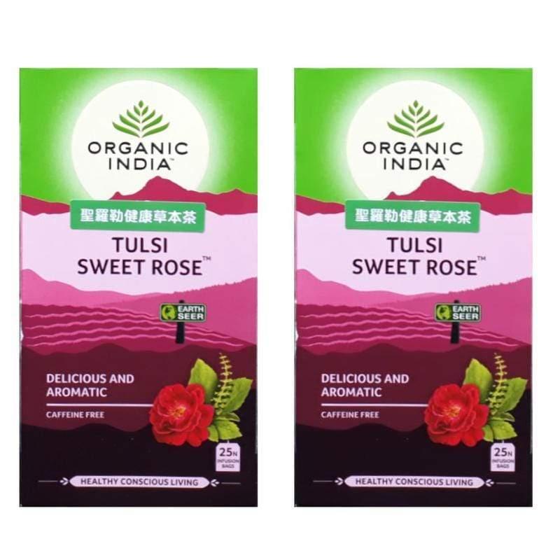 【2入】聖羅勒甜玫瑰花茶 Tulsi Sweet Rose - 25包