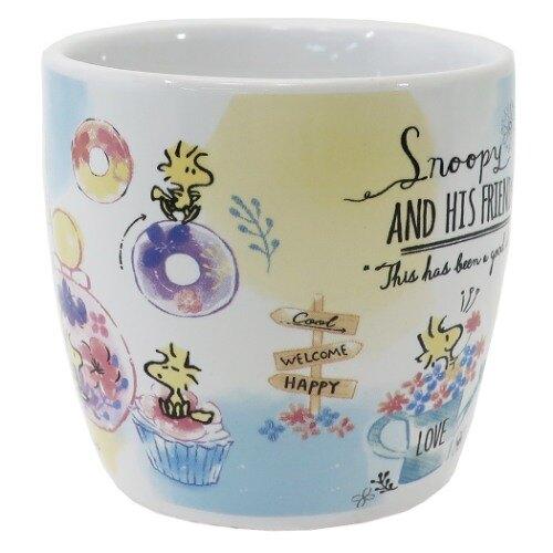 【真愛日本】史努比snoopy 馬克杯 水杯 杯子 陶瓷製 食器 4935124523325 馬克杯附湯匙-SN瓶中GT12