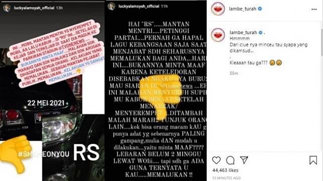 Mobil Lucky Alamsyah diserempet mantan pejabat