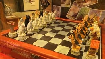 貓派與犬派的對決!日本超可愛的對陣西洋棋