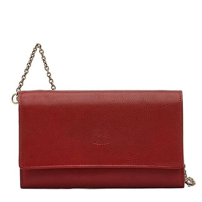 Il Bisonte紅色金屬鏈帶銀包手袋(互聯網)