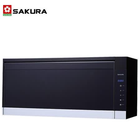 SAKURA櫻花 雙殺菌烘碗機80公分黑色 Q-7583L - 北北基地區附配送及安裝