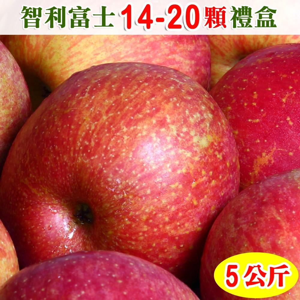 【免運】愛蜜果 智利富士蘋果14-20顆禮盒(約5公斤/盒)