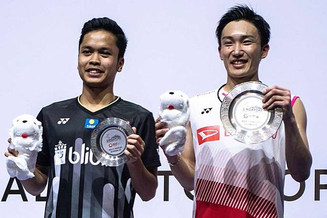 Kento Momota Manfaatkan Kelelahan Anthony di Final Singapore Open 2019