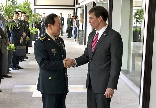 US should stop its provocation over Taiwan and South China Sea, Beijing defence minister tells Mark Esper