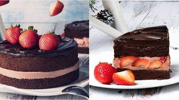 吃的到草莓果粒的BAC「黑嘉侖草莓巧克力蛋糕」11/7正式回歸!濃郁巧克力、草莓、覆盆子和黑嘉侖奶油內餡一口就能全吃到!