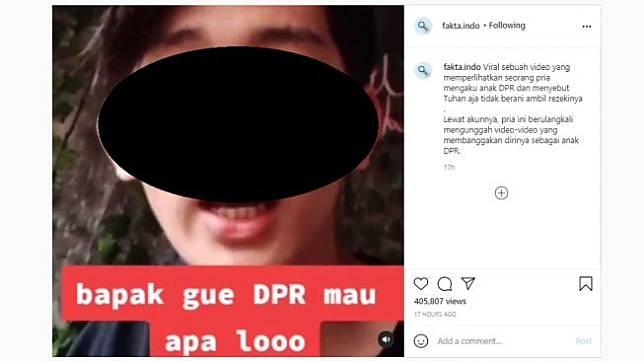 Mengaku anak DPR [Instagram/@fakta.indo]