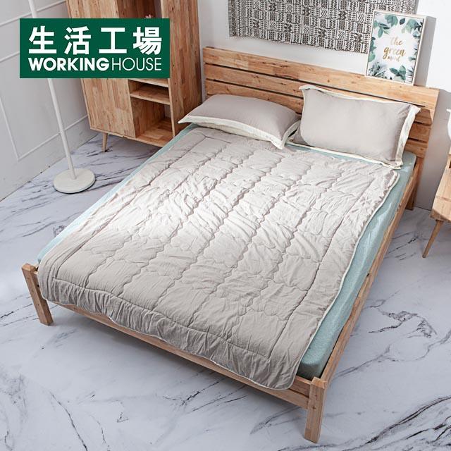 .水洗工藝,質料親膚、涼爽滑順.北歐風質感訂製色與睡眠空間都能完美融合.歐式框枕與刺繡工藝,簡約中藏著細膩