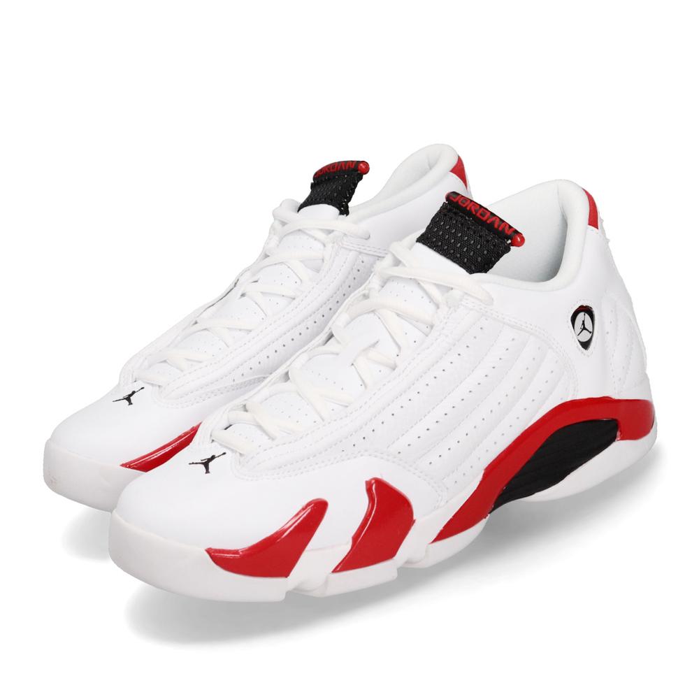 經典喬丹籃球休閒鞋品牌:NIKE型號:487524-100品名:AJ14 Retro BG配色:白色,紅色