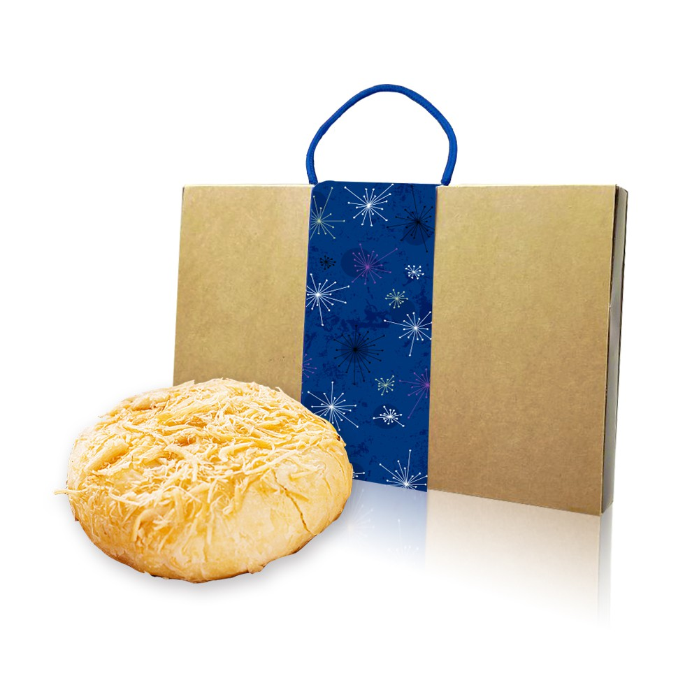 預購-樂活e棧-中秋月餅-黃金乳酪月餅禮盒-蛋奶素