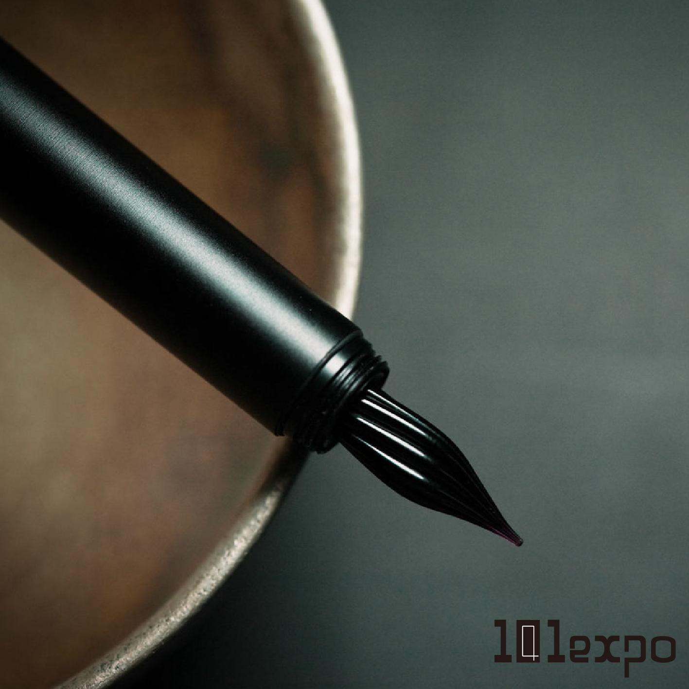 S9801玻璃尖鋼筆-烏鴉全黑
