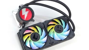 GIGABYTE AORUS Liquid Cooler 240 一體式水冷測試,圓形 LCD 液晶螢幕與 RGB 風扇更有獨特性