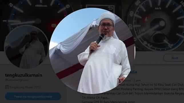 Wasekjen Bidang Dakwah dan Pengembangan Masyarakat MUI Tengku Zulkarnain (Twitter)