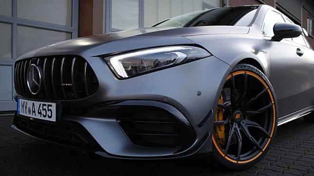 Mercedes-AMG A 45本身已實力強勁,經過了改裝後性能大幅提升。(互聯網)