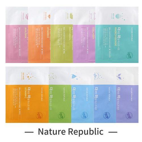 韓國平價流行美妝品牌n柔和面膜材質,超服貼