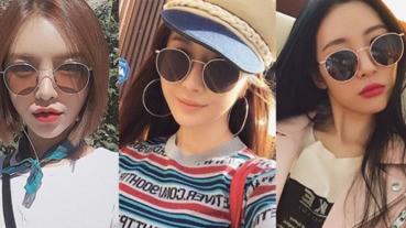膠框XL墨鏡留在上一季,韓妞用「老花墨鏡」戴出小臉心機