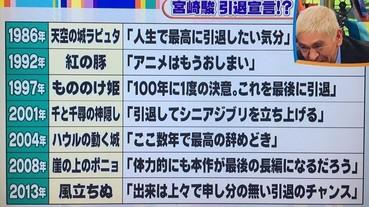 日本節目整理宮崎駿「退休詐欺」高達 7 次 居然從 1986 年《天空之城》就開始!