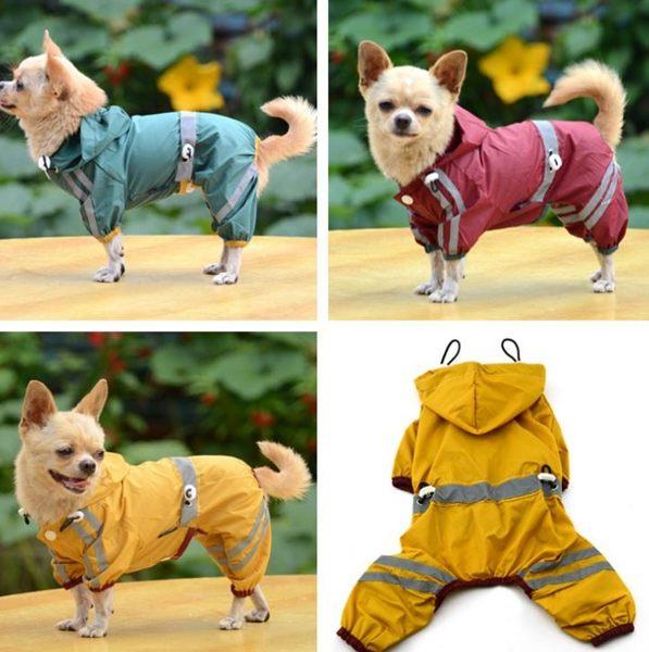 小狗狗雨衣寵物衣服泰迪服裝中型犬四腳雨傘小型犬狗雨披反光-享家生活館