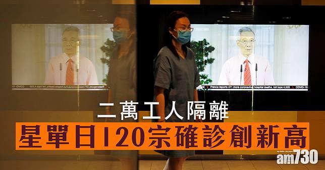 【新冠肺炎】星單日120宗確診創新高2萬工人隔離