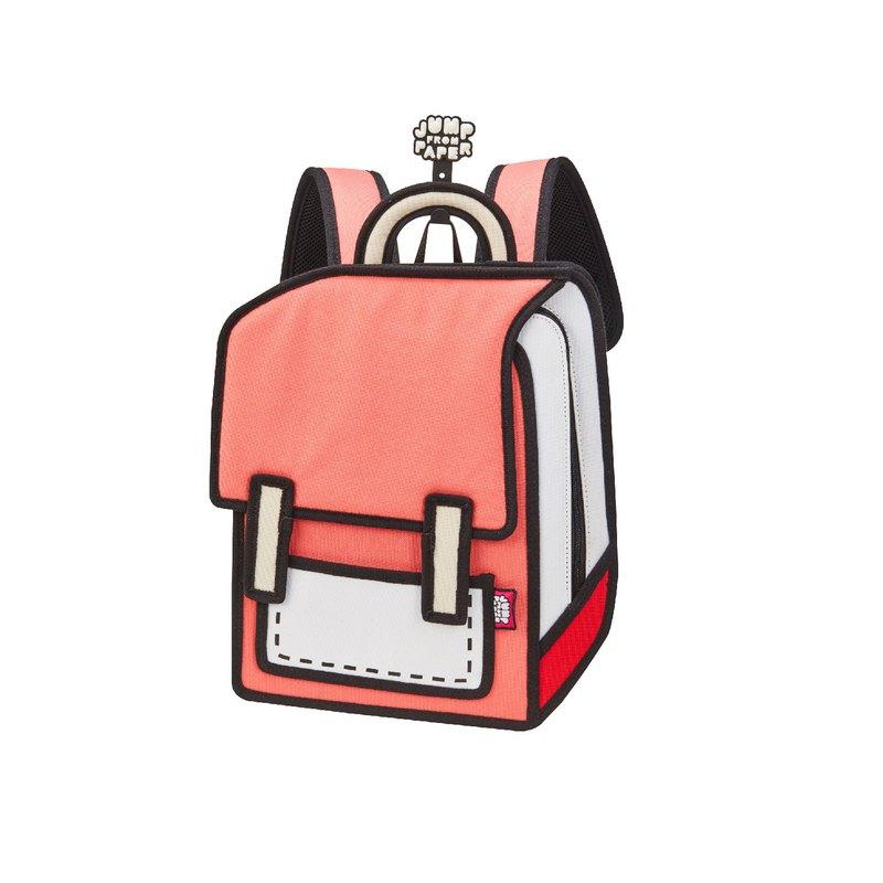 JumpFromPaper 2D卡通包 西瓜紅小宇宙包 後背包 防潑水 適合嬌小女生與小朋友