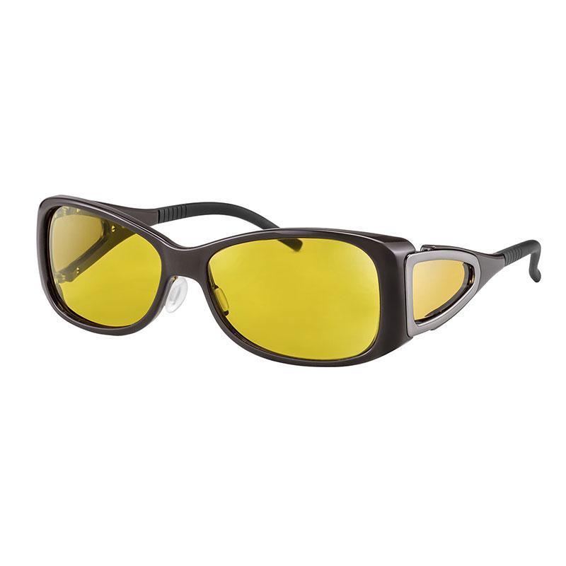 wellnessPROTECT Drive 德國製高防護包覆式濾藍光眼鏡 15%亮黃色 女版框 (56□15-130)