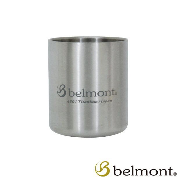 【Belmont 日本】雙層鈦杯 450ml 頂級鈦合金 BM-333【阿爾卑斯戶外】