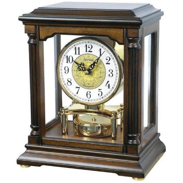 【分期0利率】RHYTHM 日本麗聲 桌鐘 座鐘 整點音樂 木質外框 CRH176NR06