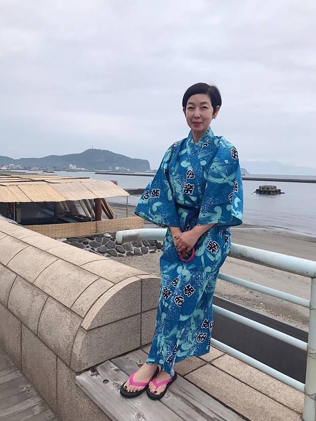 開心旅程  芷珊姐姐喺日本玩完再上船返港。